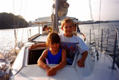 Kids & boats are a perfect match.