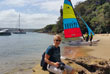 Dayle with catamaran